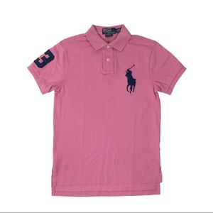 RALPH LAUREN Mens Big Pony Polo Shirt No 3 Pink